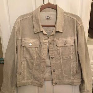 Jcrew corduroy Jean jacket cream small like new